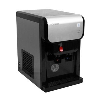 1PH Counter Top Bottleless Point-of-Use Water Cooler with Install Kit Auto Shut Off Enabled, Filtration System Included, Stainless Steel Tanks for Hot/Cold Water
