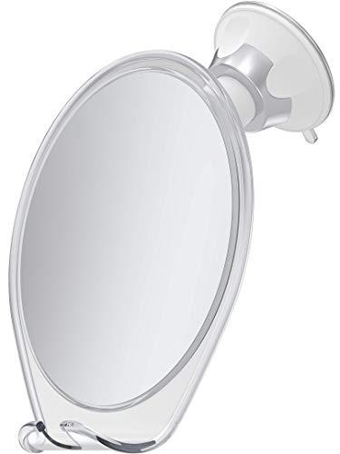 HoneyBull Shower Mirror for Shaving Fogless with Suction, Razor Holder & Swivel