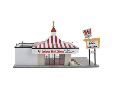 Life-Like-Trains-HO-Scale-Building-Kits-Kentucky-Fried-Chicken-Drive-in