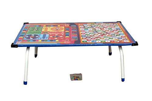 Vinayak Creations Tanishka Wooden Ludo, Snakes and Ladders Printed Foldable Study Table (Multicolour) 185