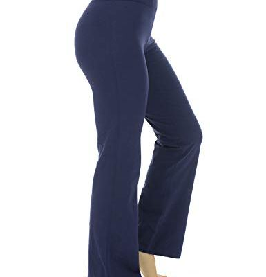 Navy yoga pants bootcut