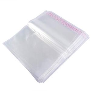 BESTOMZ Clear Cellophane Bags Candy Bags Self Adhesive Plastic Bag Treat Bag 30x40cm 100 Pieces 31r dAr1p9L