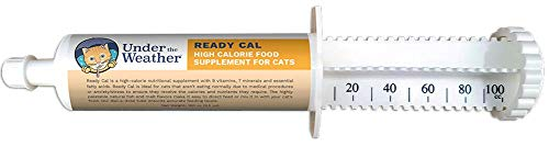 Under the Weather Pets | Ready Cal for Cats 3.5oz | High Calorie Nutritional Supplement for Weight Gain | 9 Vitamins, 7 Minerals, Fatty Acids | Palatable Natural Fish & Malt Flavor | Cats Not Eating |