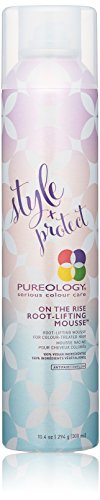 Pureology   Style + Protect On The Rise Root-Lifting Hair Mousse   Medium Control, All Day Volume   Vegan   10.4 oz.