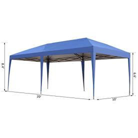 Outsunny-10-x-20-Outdoor-Gazebo-Pop-Up-Canopy-Party-Tent-with-UV-Sun-Resistant-2-Tier-Roof-Portable-Carry-Bag-Blue