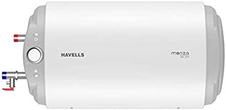 Havells Monza Slim 10 Litre Horizontal Storage Heater - LHS (White)