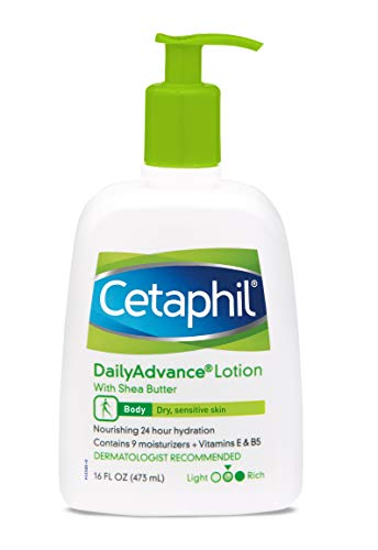 Cetaphil Daily Advance Ultra Hydrating Lotion With Shea Butter For Dry, Sensitive Skin, 16 Ounce