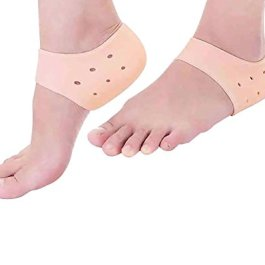 Purastep Silicone Gel Heel Pad Socks For Heel Swelling Pain Relief,Dry Hard Cracked Heels Repair Cream Foot Care Ankle…