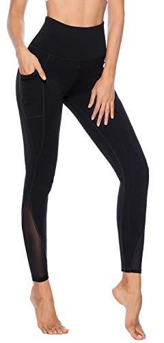 Yoga pants with mesh pockets