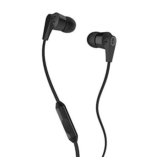 SKULLCANDY Audifonos con mic1, gomitas 2 tamaños, Control, plastico ABS, Color Negro
