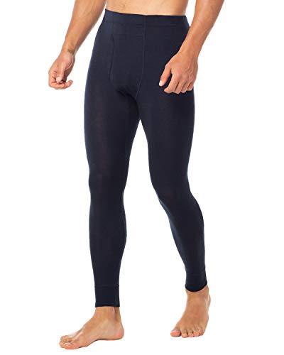 LAPASA Men's 100% Merino Wool Thermal Underwear Pants Long John Leggings Base Layer Bottom M30 (X-Large, Navy)