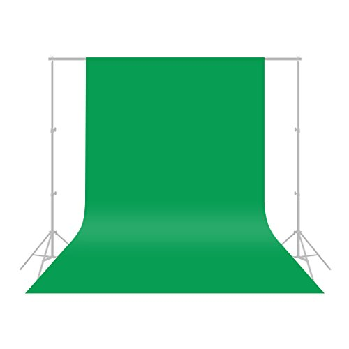 CRAPHY 1.8x3M/6x10ft Premium Silk Photo Studio Green Screen Backdrop Muslin Background 100% Pure Cotton NO CREASES for Portrait Photography Professional Uses (Backdrop only) - Green