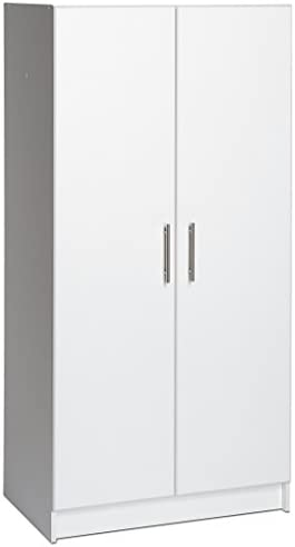 Prepac Elite Storage Cabinet, 32″ W x 65″ H x 16″ D, White