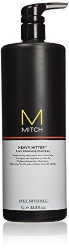Paul Mitchell Men's Mitch Heavy Hitter Deep Cleansing Shampoo, 33.8 Ounce