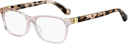Kate Spade KS Calley HT8 Pink Havana Plastic Rectangle Eyeglasses 52mm
