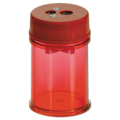 Officemate Pencil/Crayon Sharpener, Twin, Red (OIC30240) Set of 2 Sharpeners