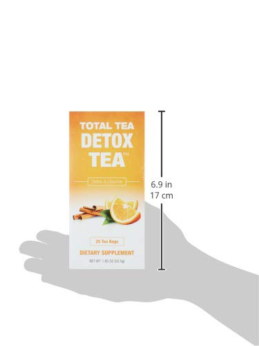 Total Tea Caffeine Free Detox Tea - All Natural - Slimming Herbal Tea for Gentle Cleansing - 25 Tea Bags 10
