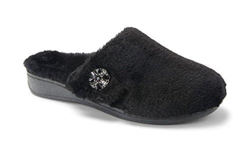 Vionic Women's Gemma Luxe Black Slipper with Orthaheel (8)
