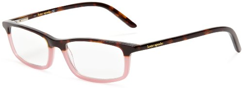 Kate Spade Women's Jodie TP10 Rectangle Reading Glasses,Tortoise Pink Frame/Demo Lens,1.00
