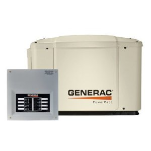 Generac Guardian PowerPact Home Standby Generator System (Standby Unit + Transfer Switch) (Discontinued by Manufacturer)