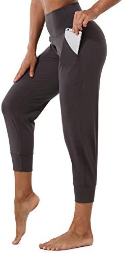 Mesily Women's Athletic Joggers High Waist Sweatpant Yoga Pant with Pockets for Workout Running 1