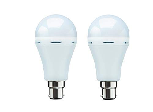 31taSxMANVL - Inverter Bulb 9 Watt Rechargeable Emergency LED Bulb (Pack of 2,White)