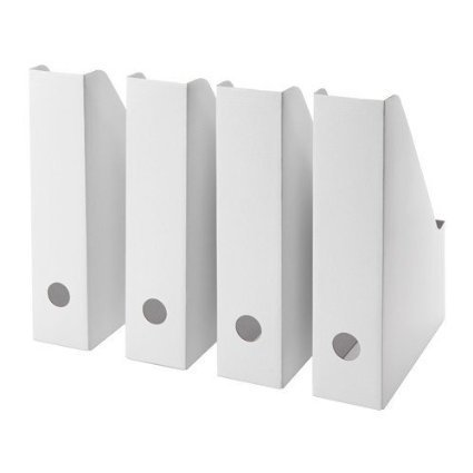 IKEA FLUNS White Magazine File White - Set of 8