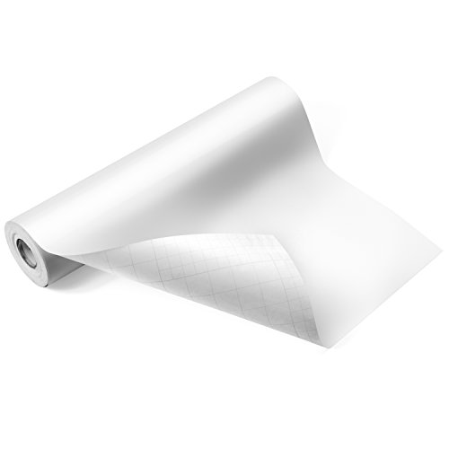 """Glossy White Adhesive Vinyl Roll – HUGE Glossy Adhesive Permanent White Vinyl Rolls – 12""""x40FT White Vinyl Sheets are The BEST Vynil – EZ Craft USA White Vinyl Wrap Works with Cricut and Other Cutters"""