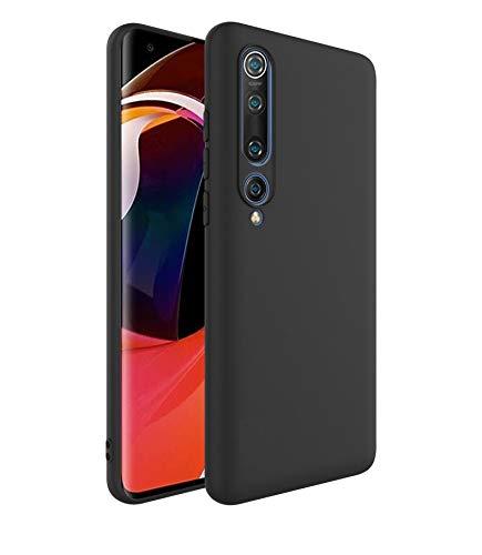 31uLFpRxR9L - Valueactive Back Case for Xiaomi Mi 10 Case Cover Slim Flexible Soft with Camera Protection Bump Back Cover Case for Xiaomi Mi 10 (Matte Black) [ Launch Offer ]