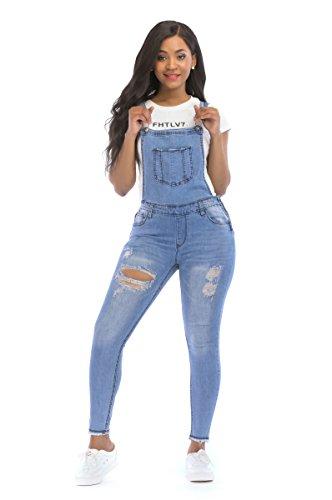 b05c743c27 POPTIME Women s Jeans Jumpsuit Long Denim Ripped Distressed Trousers  Overalls Strap Jeans Jumpsuits - PARIHIL COLLECTIONS
