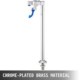 VEVOR-Pedestal-Glass-Filler-16-Inch-Deck-Mount-Push-Back-Glass-Filler-Full-Copper-Deck-Mount-Glass-Filler-with-Chrome-Plated-Surface-Push-Back-Water-Filler-12-Inch-NPT-Male-Inlet-Water-Glass-Filler