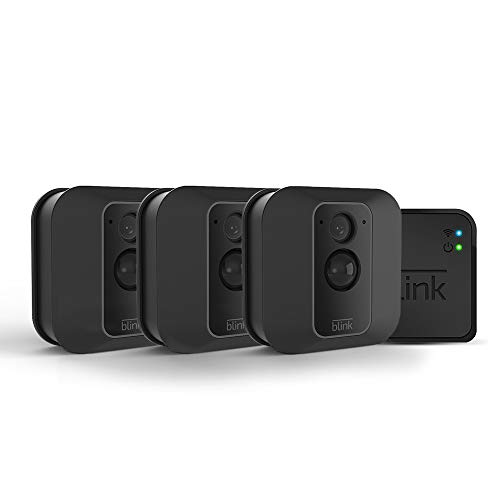 Blink XT2 Outdoor/Indoor Smart Security Camera with cloud storage included, 2-way audio, 2-year battery life - 3 camera kit