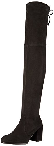 Take your look to exotic places in these Tieland thigh-high boots from Stuart Weitzman®! Suede leather upper. Pull-on wear with tie-back.