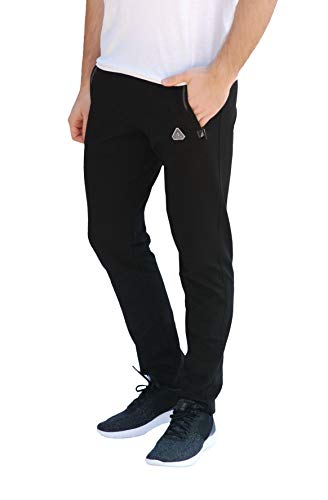 SCR SPORTSWEAR Men's Soccer Track Training Pants Athletic Sweatpants with Zipper Pockets Black Heather Grey Short Long Inseam 16 Fashion Online Shop gifts for her gifts for him womens full figure