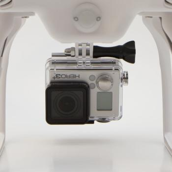 Shown with GoProHERO3+ (not included)