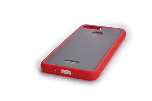 RED Chirp Smoke Back Cover Soft Non-Slippery Smoke Translucent Back Cover for Xiaomi Redmi 6 (Red) 143