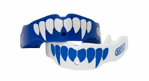 Battle Fang Mouth Guard (2-Pack), Blue/White, Youth