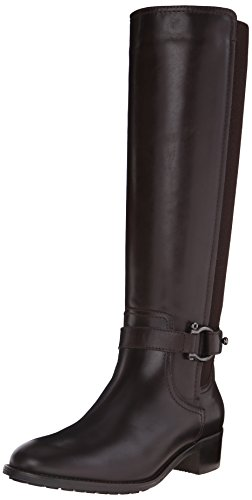 31vljHpmnpL Knee-length harness boot with fabric back panel and inside zipper Made in Italy