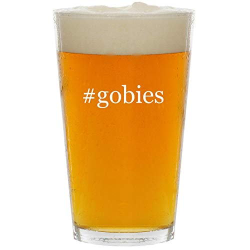 #gobies - Glass Hashtag 16oz Beer Pint
