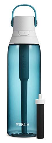 Brita Premium Filtering Water Bottle, 26 oz, Sea Glass