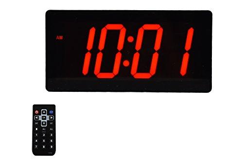 Large Huge & Digital Display 4' Digits LED Best Alarm Clock With Remote