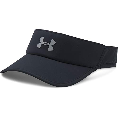 Under Armour Men's Shadow 4.0 Run Visor, Black (001)/Reflective, One Size