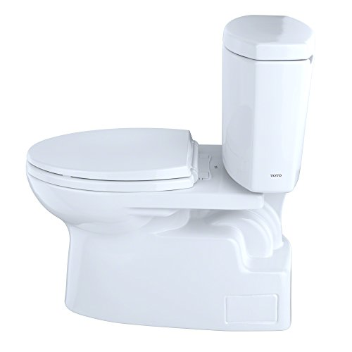 Toto CST474CEFGNo.01 Vespin II Two-Piece High-Efficiency Toilet, with SanaGloss, 1.28-GPF, Cotton