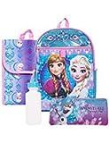 Disney Frozen Backpack Combo Set - Disney Frozen 5 Piece Backpack School Set - Anna & Elsa