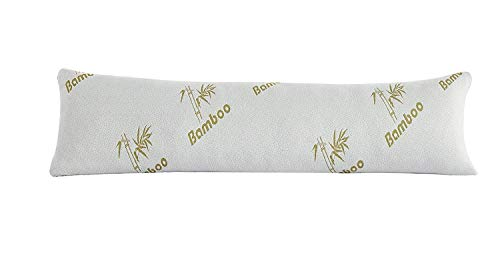The Liquidator Collections Bamboo Combination Shredded Memory Foam Full 16'X48' Body Pillow with Hypoallergenic Outer Fabric with Removable Zipper Pillow