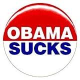 "1"" Anti Barack Obama ""Sucks"" Button/Pin"