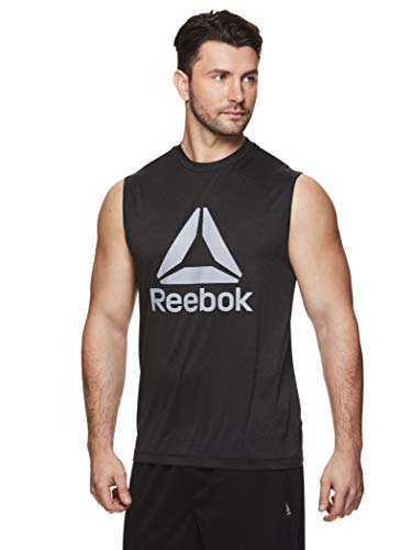 Reebok Men's Muscle Tank Top - Sleeveless Workout & Training Activewear Gym Shirt 2 Fashion Online Shop gifts for her gifts for him womens full figure