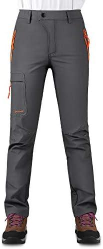 KUTOOK Women's Thermal Softshell Hiking Pants Windproof Polar Fleece Lined Cargo Pants for Winter Outdoor Sports 1