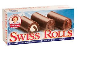 LITTLE DEBBIE SNACK SWISS ROLLS CHOCOLATE & CREME 12 CT