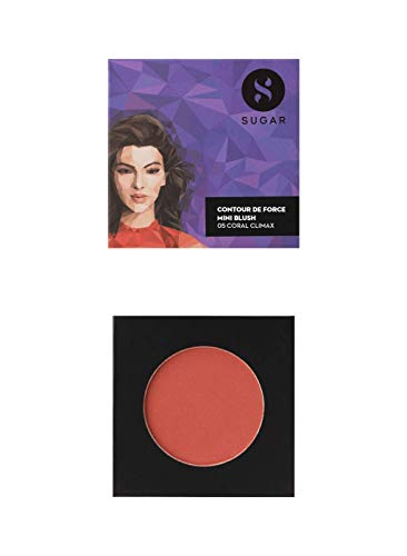 SUGAR Cosmetics Contour De Force Mini Blush – 05 Coral Climax (Bright Coral)